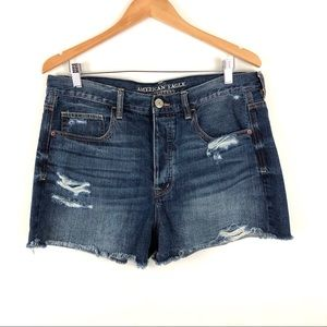 American Eagle Distressed Denim Jean Shorts 14